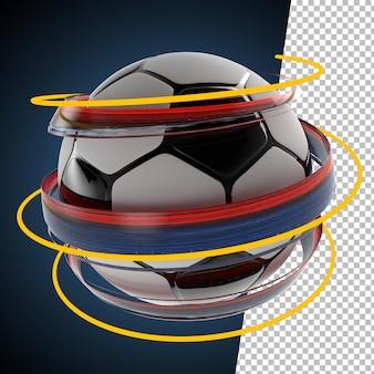 3d визуализация мяч брызги краски футбол футбол