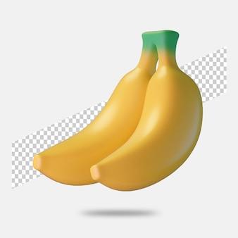 3d визуализация значок банана изолированы