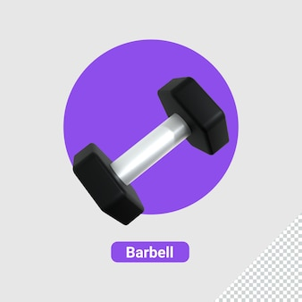 3d render of barbell icon