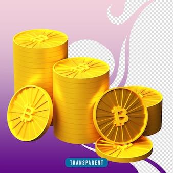 3d render bitcoin