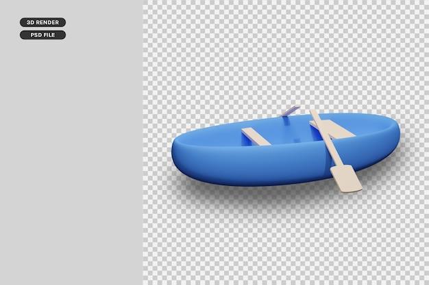3d-рендеринг лодки премиум-рендер