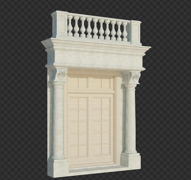 3d 렌더링 건물 구조 절연
