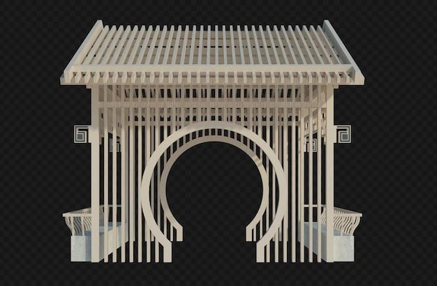 分離された3dレンダリングの建物構造