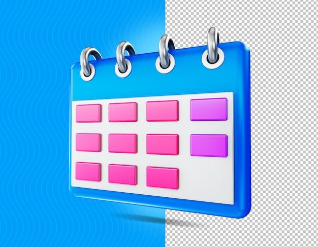 3 d レンダリング カレンダー アイコン