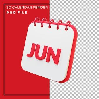 3d визуализация календарный месяц июнь
