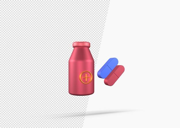 3d 렌더링 캡슐 알약 마약 의학 개념