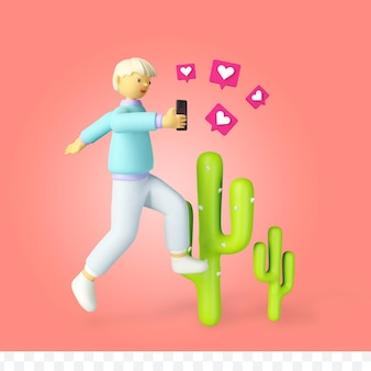 3d визуализация мультфильм любовь социальные сети