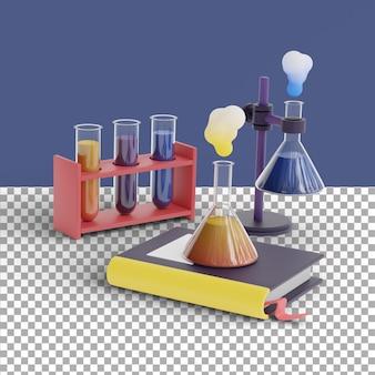 3d render chemistry scene