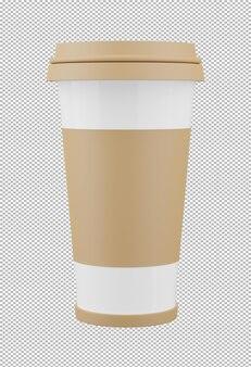 3d render of coffee mug isolated Premium Psd