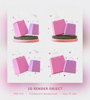 3d-рендеринг концепции подарочных пакетов