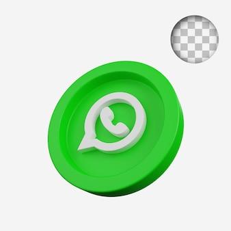 3d render concept coin of social media icon whatsapp