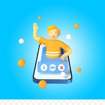 3d визуализация концепции видеозвонка