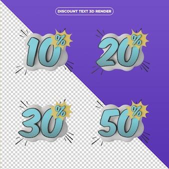 3d визуализация скидка продажа баннер