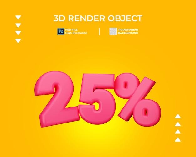 3d render of discount text