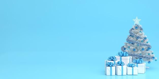 3d визуализация макет пастельных тонов с рождеством и новым годом