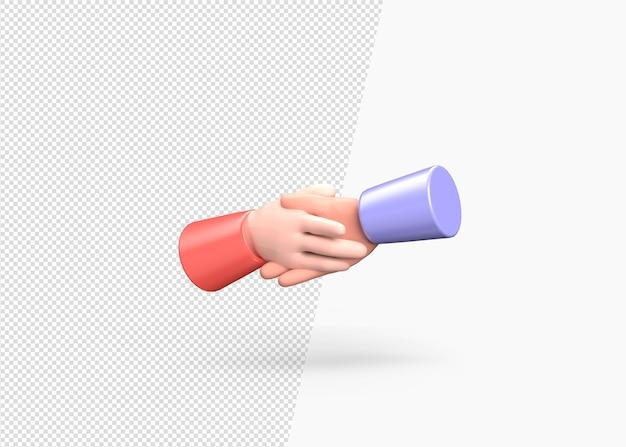 3d render doing handshake concept