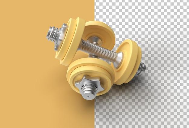 Набор гантелей 3d визуализации