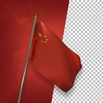 3d render elegant chinese flag