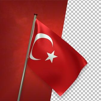 3d визуализация элегантный флаг турции
