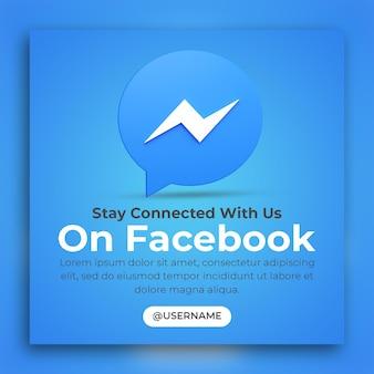 3d render facebook business promotion for social media post template