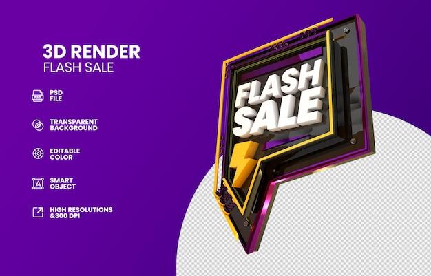 3d render flah sale rendering design