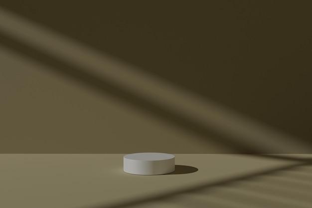 3d визуализация геометрического фона сцены подиума