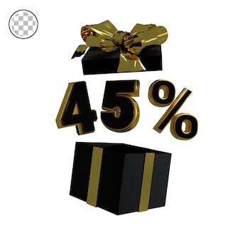 3dレンダリングゴールド45%