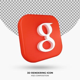 3d-рендеринг объекта google icon