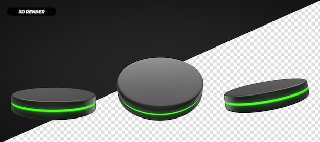 3d 렌더링 녹색 연단 무대 구성에 대해 격리
