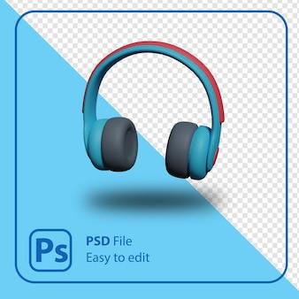 Изолированная иллюстрация значка наушников 3d визуализации
