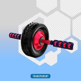 3d 렌더링 아이콘 ab 휠 체육관 장비