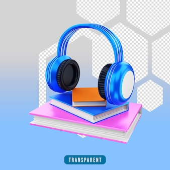 3d render icon audio book