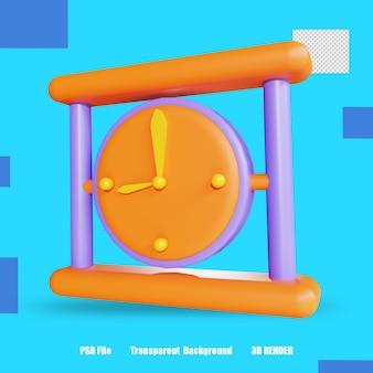 3d 렌더링 아이콘 시계 2