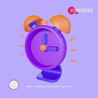 3d render icon clock alarm