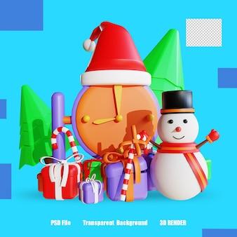 3d 렌더링 아이콘 시계 선물 상자 사탕 2