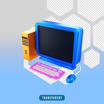 3d визуализация значок компьютер