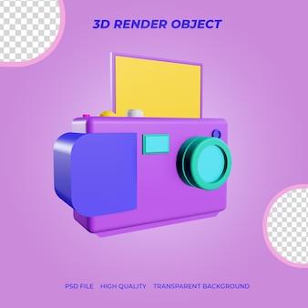 3dレンダリングアイコンデジタルカメラ