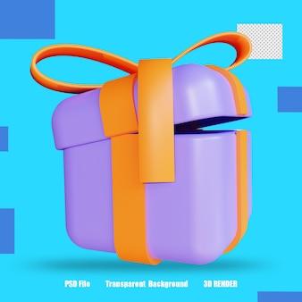 3d 렌더링 아이콘 giftbox 3
