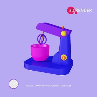 Микшер значков 3d-рендеринга