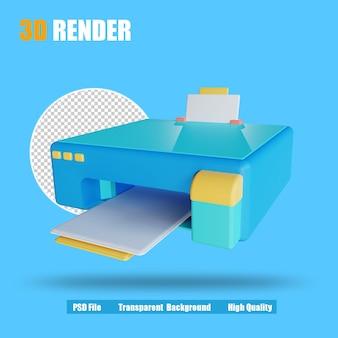 3d 렌더 아이콘 프린터