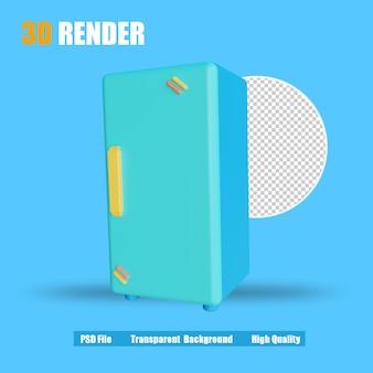 Холодильник 3d render icon