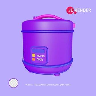 Значок 3d визуализации рисоварка