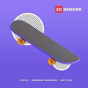 3d 렌더링 아이콘 스케이트보드