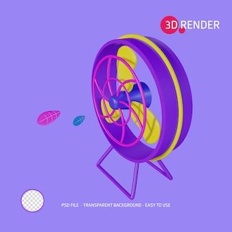 3d render icon standing fan
