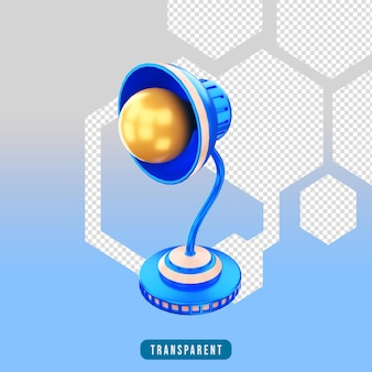 3d render icon table lamp