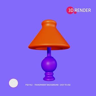 Значок 3d-рендеринга настольная лампа