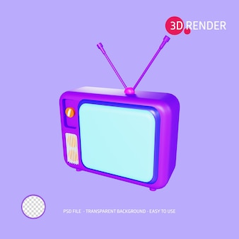 3dレンダリングアイコンテレビ