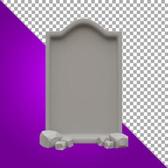 3d render illustration gravestone halloween