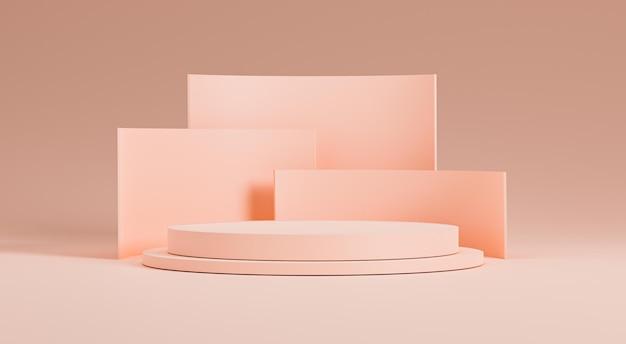 3d визуализация иллюстрации минимального дизайна подиума