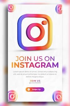3d render instagram business promotion for social media instagram story template